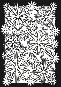 Flowers---coloring page