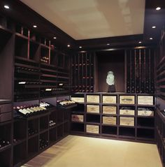 Wenge Wood, 2200 Bottles contemporary wine cellar by Degre 12