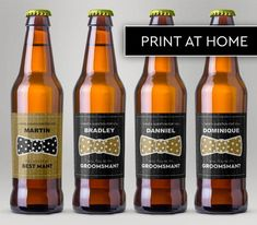 Will You Be My Groomsman, Will You Be My Best Man, Custom Beer Labels, Tuxedo Beer Labels, Editable Beer Labels, Instant Download Be My Groomsman, Groomsmen, Custom Beer Labels, Dominique, A Good Man, Tuxedo, Beer Bottle, I Am Awesome, Party Ideas