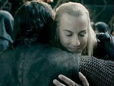 """Aragorn and Haldir. """"You are most welcome."""""""
