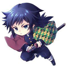 Kimetsu No Yaiba Giyuu Chibi Manga Anime, Cute Anime Chibi, Kawaii Chibi, Cute Anime Guys, Kawaii Anime, Demon Slayer, Slayer Anime, Anime Angel, Anime Demon