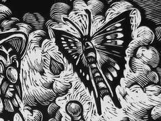 Woodcut, etching, drawing, art of Fernando Fujiwara