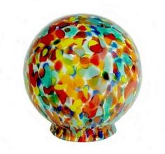 Art Deco or Nouveau Ball Globe Glass Lamp Shade. Lighting Replacement  Lampshade for use in
