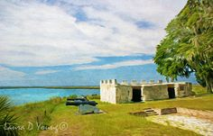 Fort Frederica National Monument Old Fort Ruins by FineArtography