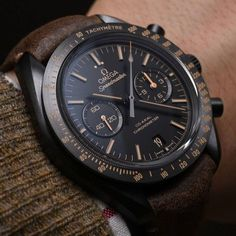 Omega Speedmaster Dark Side of the Moon Vintage Black (reference in ceramic, with a new colorway released in 2015 —… Sport Watches, Cool Watches, Wrist Watches, Dream Watches, Men's Watches, Silver Pocket Watch, Skeleton Watches, Swiss Army Watches, Omega Speedmaster