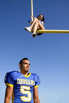 cheerleader football player