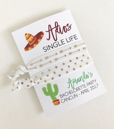 Fiesta Bachelorette Bachelorette Party Favors by PoppyandErie