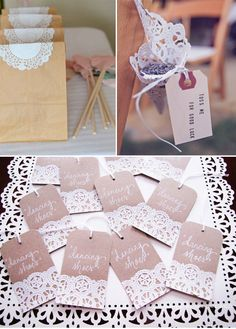 doily cones - instead of confetti, with daisy blooms instead