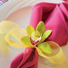 Orchid at your service - towel de table orchidee