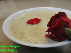 Clay of paradise... Pudding made with white pumpkin and thickened milk!