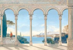 trompe l'oeil mural design - Google Search