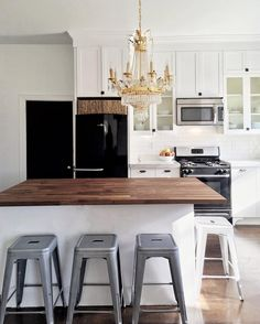 Kitchen Design Ideas Black Appliances black appliances and white or gray cabinets – how to make it work