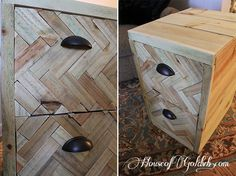 Great idea for an old file cabinet!!!