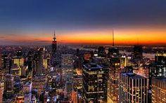 Sun setting. .. N.Y.C