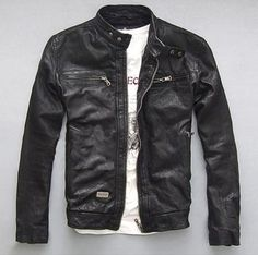 Cheap spring brand, Buy Quality spring men directly from China spring autumn Suppliers: Factory Men Leather Jacket Genuine Real Sheep Goat skin Brand Black Male Bomber Motorcycle Biker Man's Coat Autumn Spring Leather Jacket Brands, Men's Leather Jacket, Leather Men, Leather Jackets, Leather Coats, Leather Fashion, Black Leather, Sheepskin Jacket, Zx 10r
