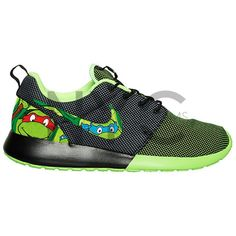 release date: 6ce50 342e6 ... cheap teenage mutant ninja turtles nike roshe run black green tmnt 150  liked on fc405 fdc87