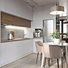 31 Modern Kitchen Concepts Every House Prepare Needs to See Luxury Kitchen Design, Best Kitchen Designs, Luxury Kitchens, Home Design, Small Kitchens, Design Ideas, Kitchen Cabinet Colors, New Kitchen Cabinets, Kitchen Storage