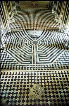 Saint Quentin's Labyrinth, France - rigcrang. Fort Mahon Plage, Saint Valery, Labyrinth Maze, Saint Quentin, Labrynth, Beauvais, Mandala, Handmade Tiles, Chapelle