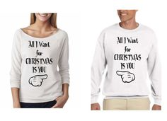 All I Want for Christmas Is You. Couple Sweaters. Unisex Size Crewneck Sweaters. Cozy. Warm Sweaters. Couple Christmas Outfits. Price for 2 DgHmP05T