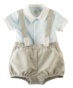 He'll look sweet and dapper at the same time in this 100% cotton romper set. Designed by Hallmark artists and available exclusively at Hallmarkbaby.com.