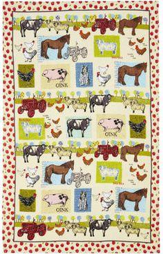 Down On The Farm Ulster Weavers Linen Tea Towel