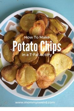 T-Fal Actifry Potato Chips - recipes - Potatoes Recipes Tefal Actifry, Actifry Recipes Slimming World, Cakepops, Air Fryer Potato Chips, Potato Recipes, Snack Recipes, Fried Chips, How To Make Potatoes, Kettle Chips