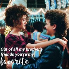 Dustin and Nancy Snowball Stranger Things 2, Don T Lie, You're My Favorite, Why Do People, Film Serie, Superwholock, Funny Pictures, Funny Pics, Boys Who