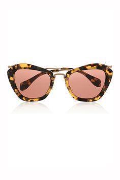 Miu Miu tortoise cat eye sunglasses that I LOVE! Miranda Kerr looked hot wearing these! #SWshareyourlife