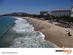 MONEYBACK MEXICO. The main beach in Ixtapa is called Playa El Palmar, it is a very wide beach that concentrates the largest number of buildings and hotels along with the best tourist services in the area. Walk in the beautiful soft sands while watching the isles and ocean and the shore with almost all hotels of Ixtapa, also try the seafood at the various bars and restaurants. #moneyback www.moneyback.mx