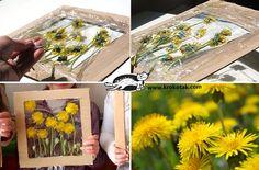 bonito marco casero para flores