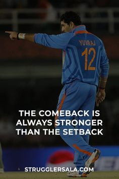 The Comeback Is Always… – Struggler Sala Cricket Logo, Cricket Sport, Cricket Tips, College Motivation Quotes, College Quotes, Football Quotes, Soccer Quotes, Personality Development Quotes, Reality Of Life Quotes