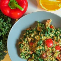 Quinoa with Lentils and Kale in an Orange-Tahini Sauce