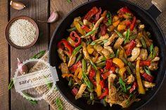 Sebzeli Tavuk Sote – Gemüsepfanne mit Hähnchen