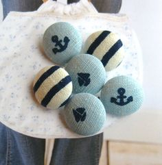Fabric Buttons - Nautical