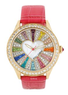 Betsey Johnson Multicolored Crystal Dial Watch - LOVE ♥