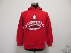 Vtg 80s Bassett Walker Indiana Hoosiers Hoody Sweatshirt sz L Large Hoodie IU #BassettWalker #IndianaHoosiers