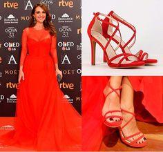 Paula Echevarria en los premios Goya con unos zapatos de Lodi