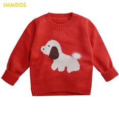 How to Discount 44% Original Price US $22.71 IMMDOS Baby Sweater 2018 Winter Cartoon Dog Sweaters For Girl Kids Knitted Pullover Cardigan New Year girl winter clothes like beckham #sweaters-cardigans