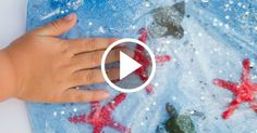 This Ocean Sensory Bag is a fun way to experience the deep blue sea for little hands.