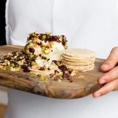 This cheese log is created using soft goat's cheese that is rolled in a mixture of nuts, dried fruit and fresh herbs. It makes a great addition to your standard cheeseboard, especially at Christmas time with all its festive flavours … Continued Appetizer Recipes, Dessert Recipes, Spicy Nuts, Delish Cakes, Cheese Log, Cranberry Cheese, Savory Snacks, Appetisers, Quick Meals