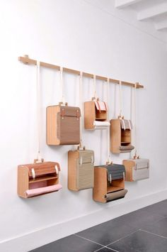 Hanging is a great way to display product. Hang crates, suitcases, etc to get the most out of the space yet making the visual clean and inviting If we talk about DIY projects, nothing much better than creating DIY wall shelves hanging storage to fulfill