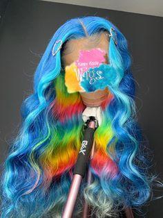 Blue Wigs Lace Frontal Hair Bakugou Wig Powder Blue Wig Bundles And Wi – xxshoop Baddie Hairstyles, My Hairstyle, Teen Hairstyles, Casual Hairstyles, Medium Hairstyles, Latest Hairstyles, Braided Hairstyles, Braided Ponytail, Black Hairstyles
