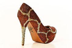 Crystal Heels in Giraffe by yhasminae on Etsy - StyleSays