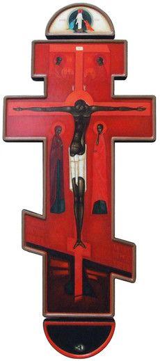 We present: ICON Cross - Greta Maria Leśko. One of the many paintings by Greta Maria Leśko. Religious Images, Religious Icons, Religious Art, Anima Christi, Russian Icons, Jesus Art, Spirited Art, Art Icon, Jesus Cristo