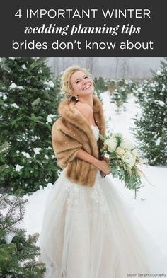 Considering a winter wedding? There are many pros and cons to winter weddings, so make sure you take these 4 winter wedding planning tips into account!