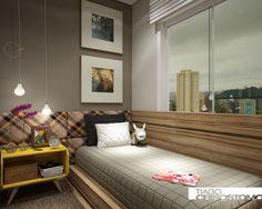 Dormitorio Adolescente Feminino Dormitório Adolescente Menina Vista 4 por Tiago Crisostomo de Castro bedroom girl Yellow