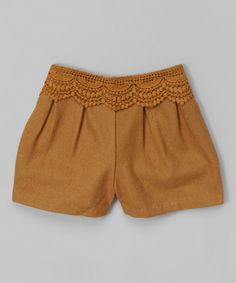 Dino BebeTan Lace Winter Shorts - Toddler & Girls on #zulily today!