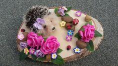 Miniature Needle felt Hedgehog Woodland Scene by PuppyduckMakes