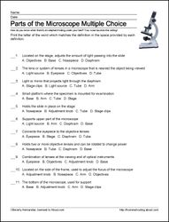 Parts Of The Microscope Worksheet Microscope Mania Pinterest