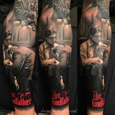 Mob Tattoo, Tattoo Mafia, Tattoos 3d, Dope Tattoos, Nature Tattoos, Animal Tattoos, Sleeve Tattoos, Tattoos For Guys, Godfather Tattoo